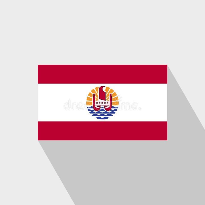 La Polynésie française marque le long vecteur de conception d'ombre illustration de vecteur