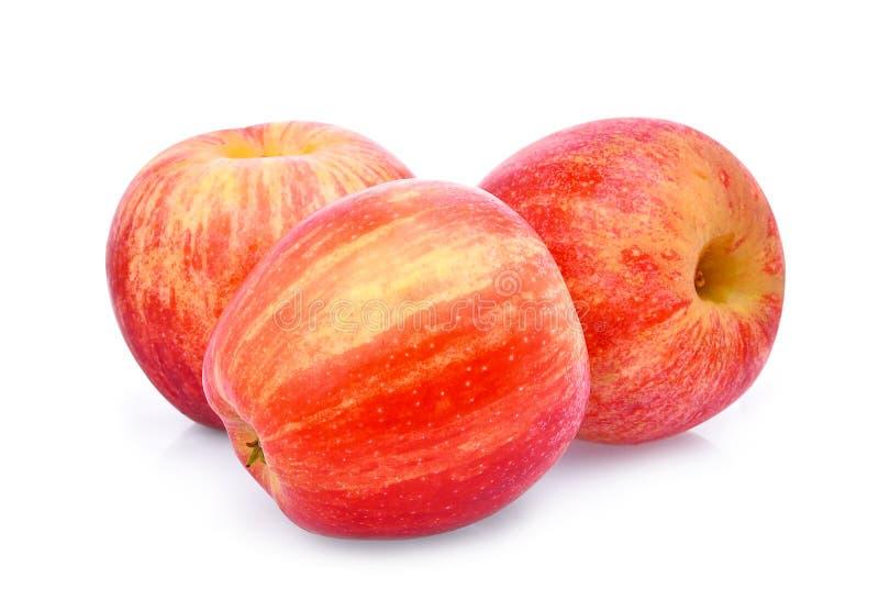 La pomme rouge fraîche entière du gala trois isloated sur le blanc photo libre de droits