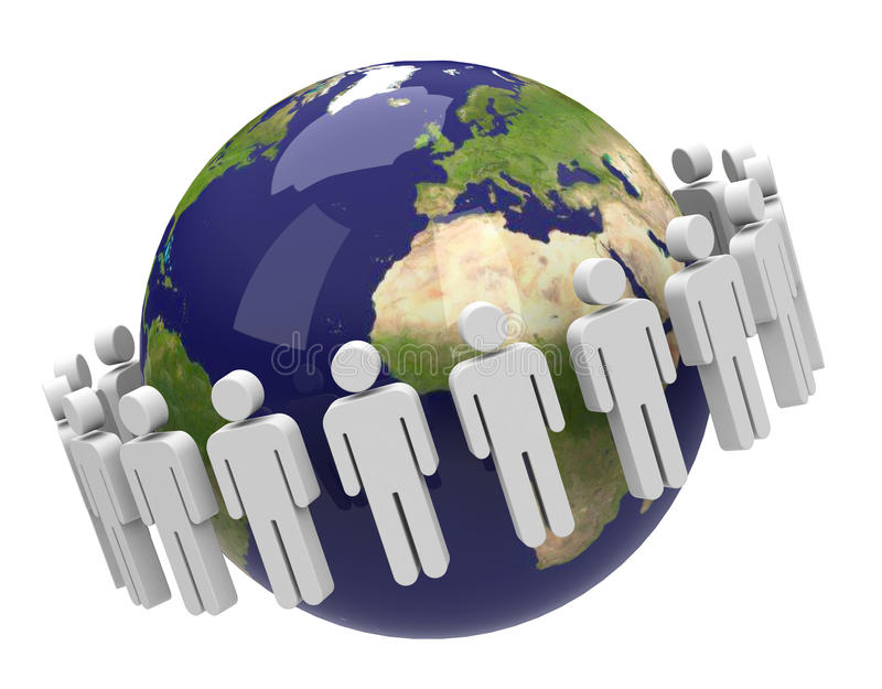 La population illustration libre de droits