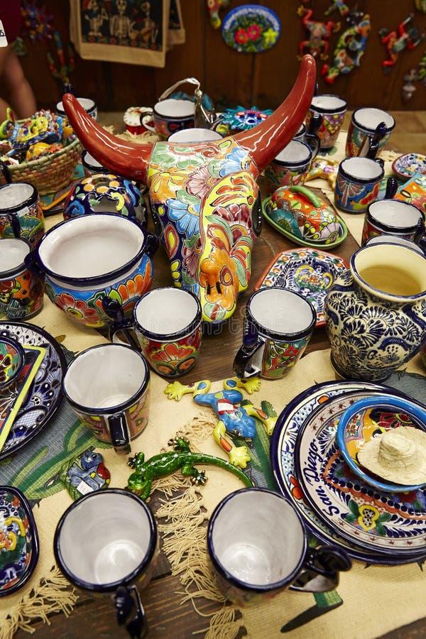 La porcellana messicana e handcraft immagini stock