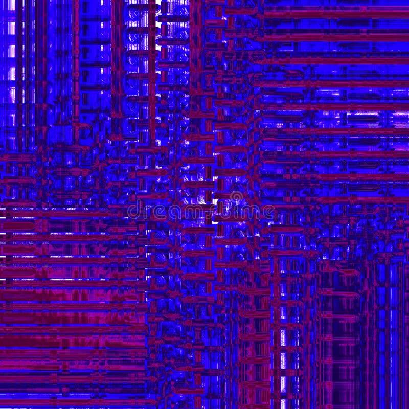 La porpora blu scuro del modello complesso delle bande ha spostato dimensionale illustrazione vettoriale