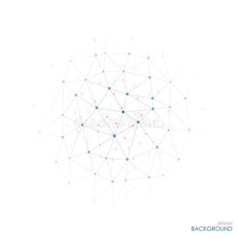 La portée des molécules bleues et roses illustration libre de droits