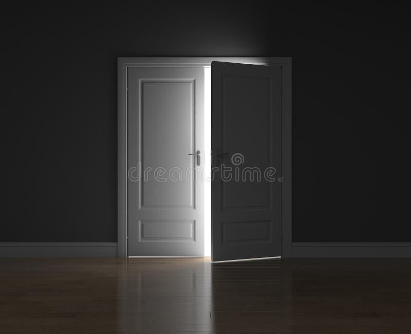 la porta socchiusa illustrazione di stock illustrazione