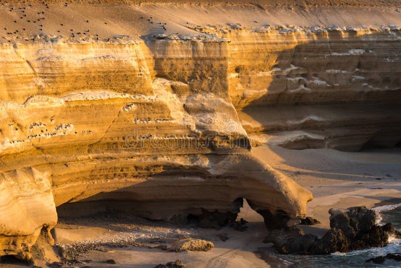 'La Portada' Natural Monument, Antofagasta (Chile). 'La Portada' Natural Monument at sunset, Antofagasta (Chile stock image