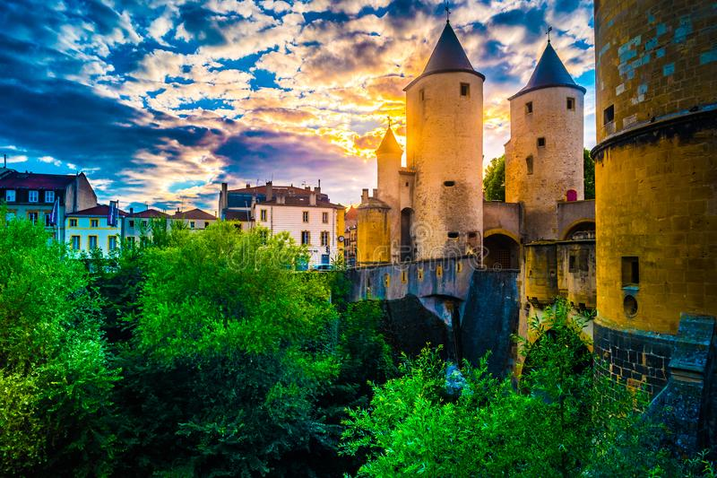La porte allemande de s à Metz, France images libres de droits
