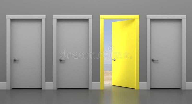 La porte dans l'été illustration de vecteur