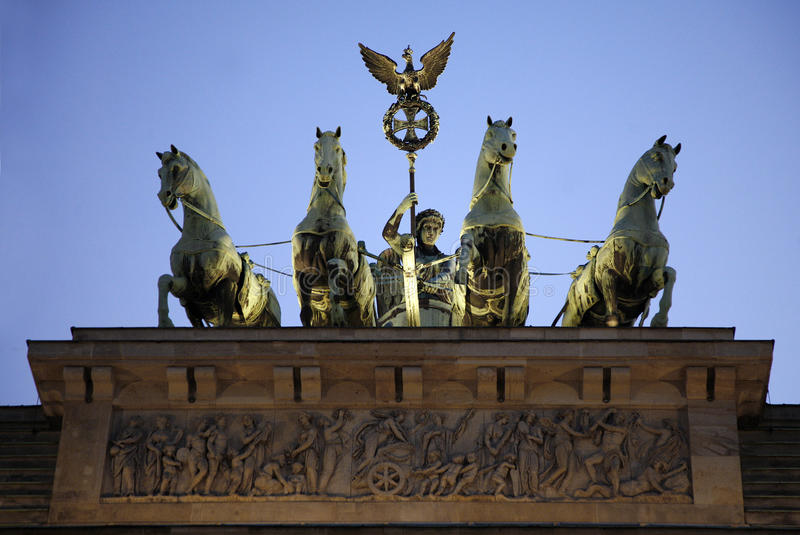 La Porte de Brandebourg À Berlin photos stock