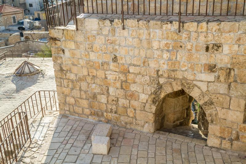 La porte de Damas dans la vieille ville de Jérusalem, Israël image libre de droits