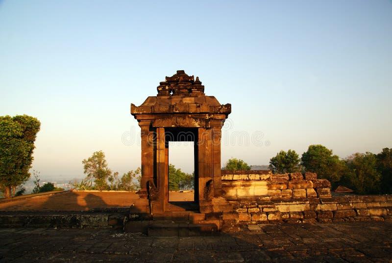 La porte du temple de Barogn photo stock