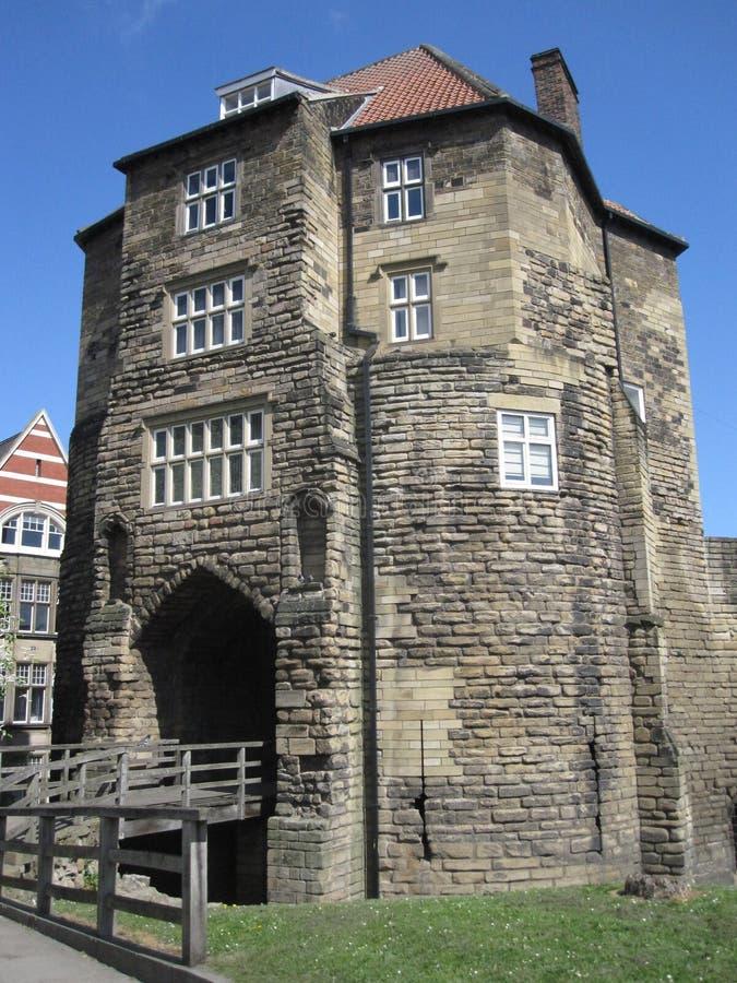 La porte noire, Newcastle sur Tyne, Angleterre photo libre de droits