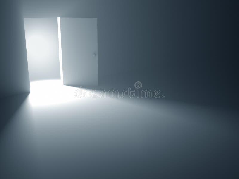 La porte ouverte à la liberté illustration libre de droits