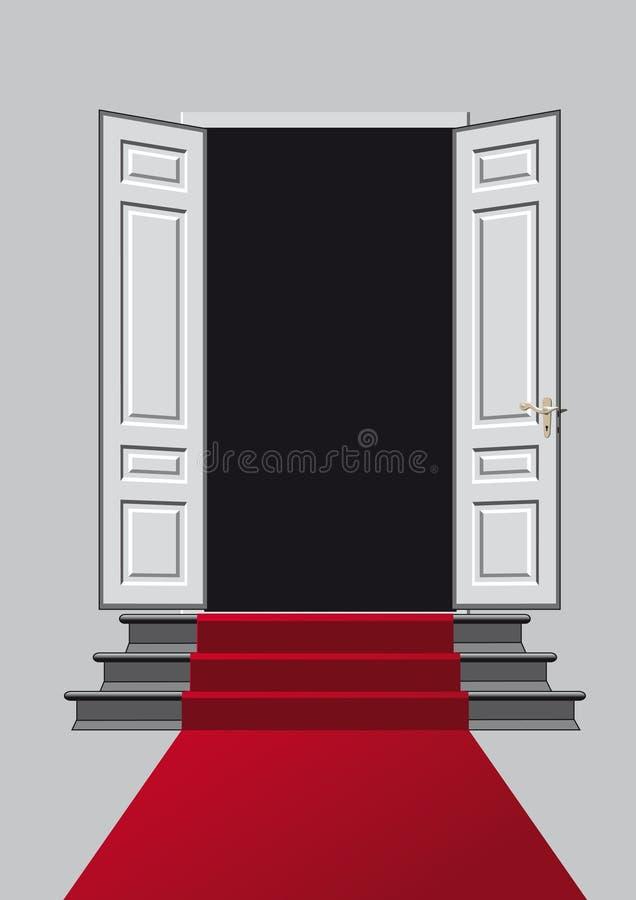 La porte ouverte illustration libre de droits