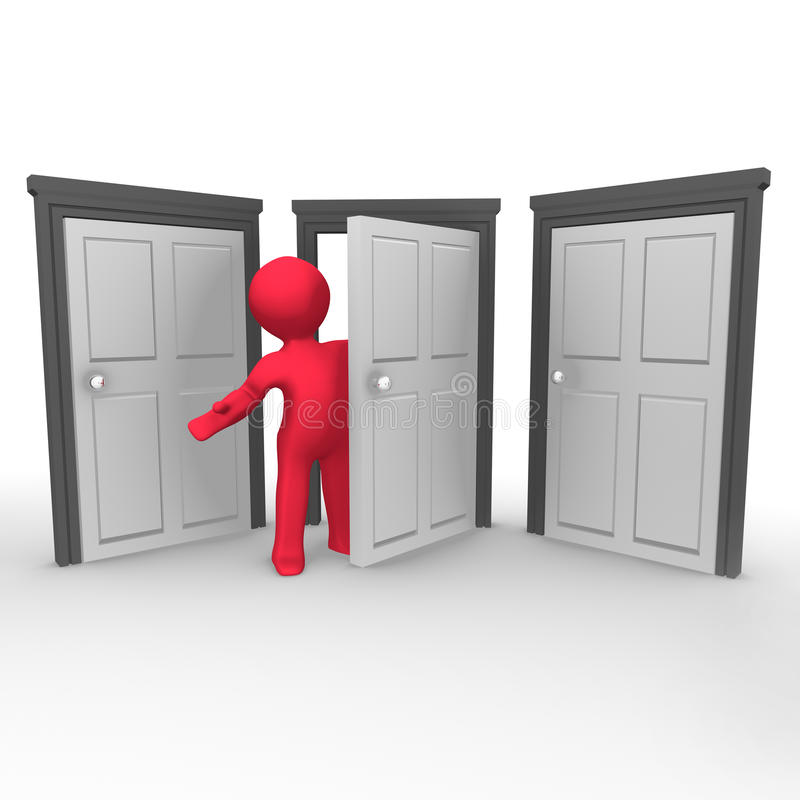 La porte ouverte illustration stock