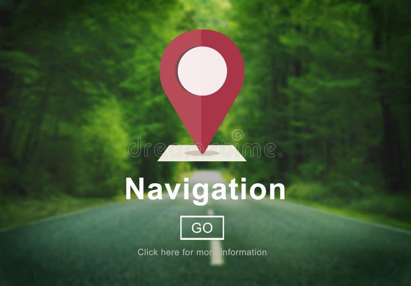 La posición de la navegación traza concepto de los servicios libre illustration