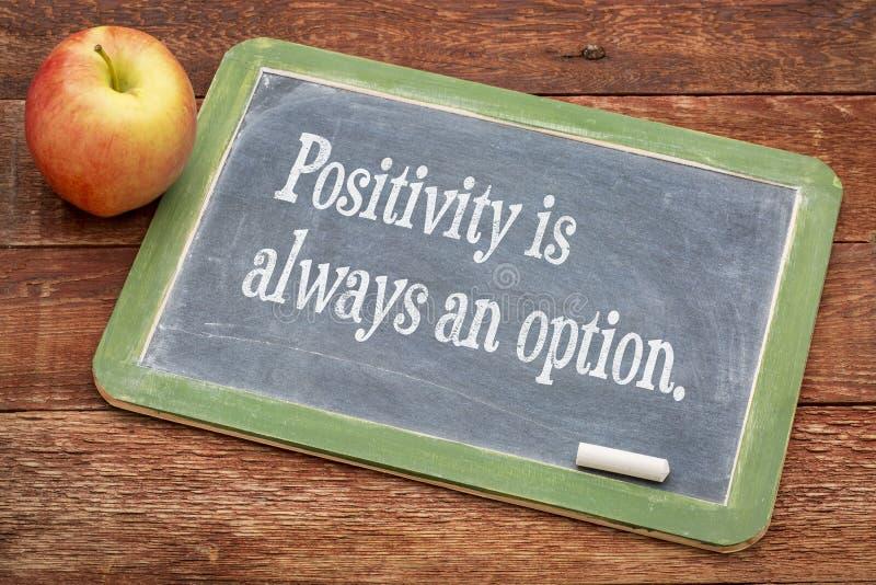 La positività è sempre un'opzione immagine stock