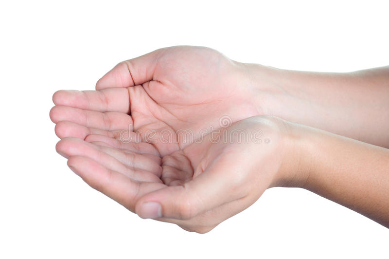 La posizione Foster del segno della mano ha isolato fotografie stock libere da diritti