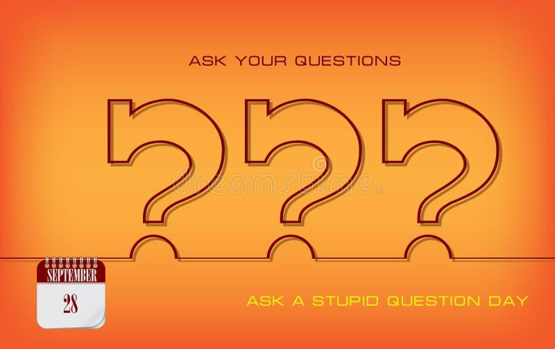 La postal pide día estúpido de la pregunta libre illustration