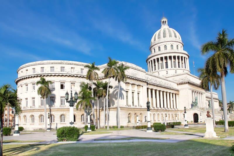 La postal tiró del edificio del capitolio en La Habana foto de archivo libre de regalías