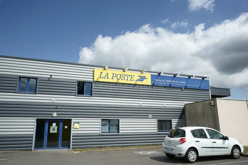 La Poste Mail distribution center building France royalty free stock photo