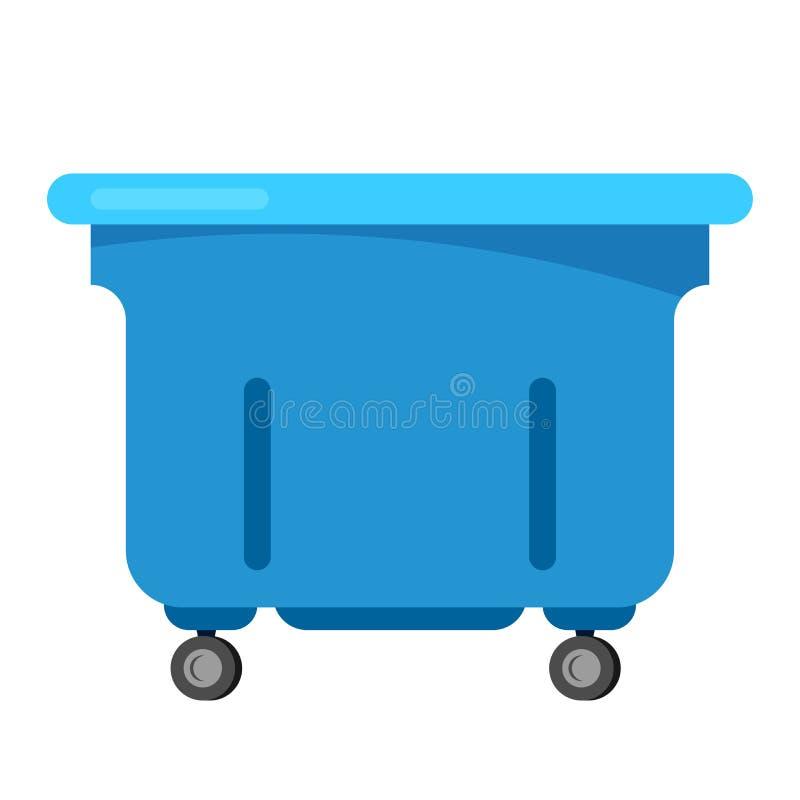 La poubelle de vecteur de poubelle réutilisent l'illustration de rebut électronique de déchets ewaste électronique de déchets de  illustration stock