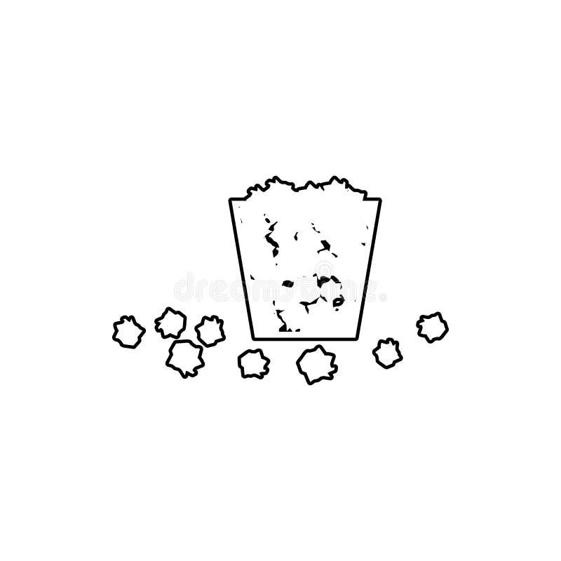 La poubelle est pleine Des déchets sont tombés sur l'icône au sol Élément de chaos pour le concept et l'icône mobiles d'applis de illustration de vecteur