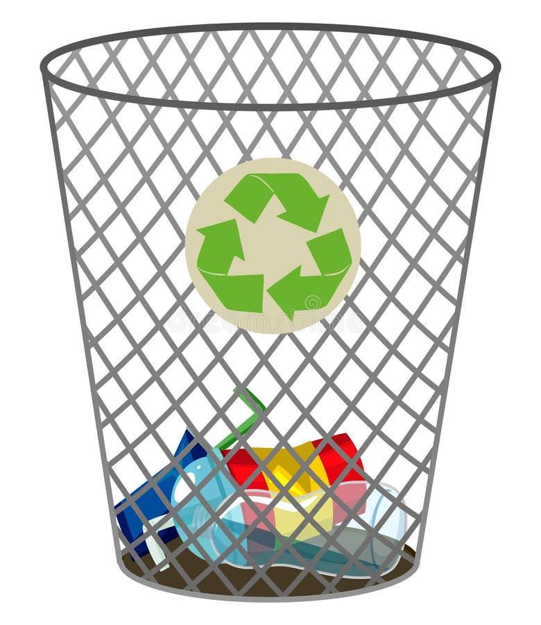 La poubelle pour réutilisent des déchets illustration libre de droits
