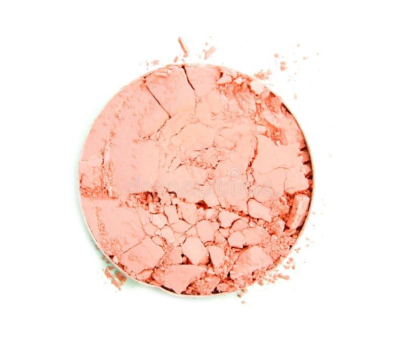 Download La Poudre Brisée Rose Ronde Pour Composent Comme échantillon De Produit De Cosmétiques D'isolement Sur Le Fond Blanc Photo stock - Image du mode, blanc: 87708850