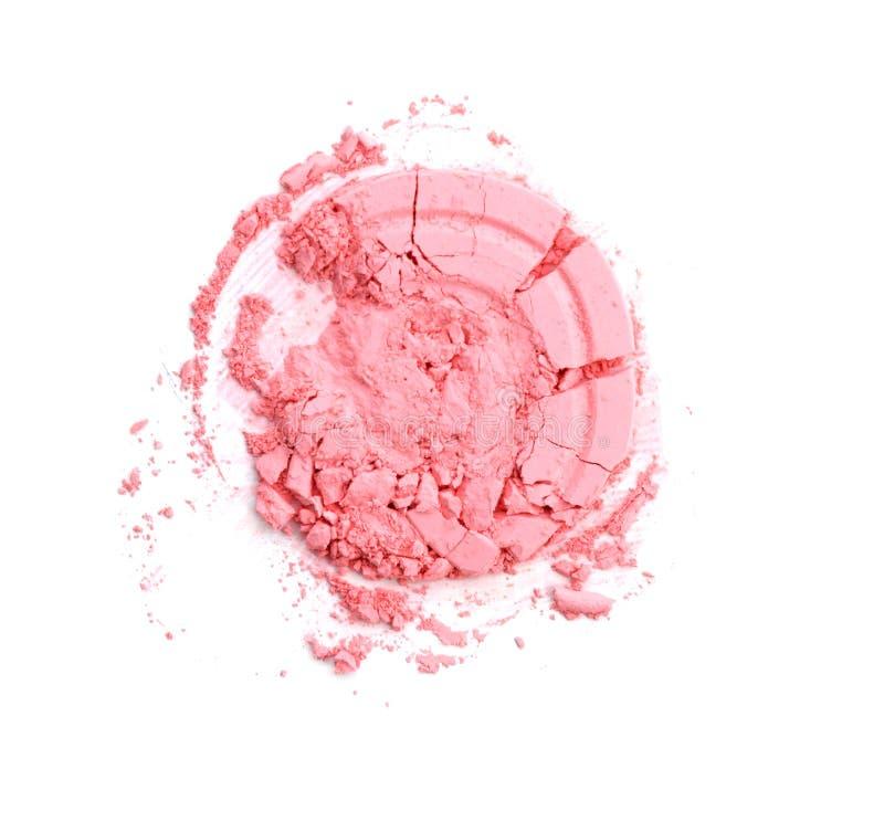 Download La Poudre Brisée Rose Ronde Pour Composent Comme échantillon De Produit De Cosmétiques D'isolement Sur Le Fond Blanc Image stock - Image du poudre, mode: 87709077