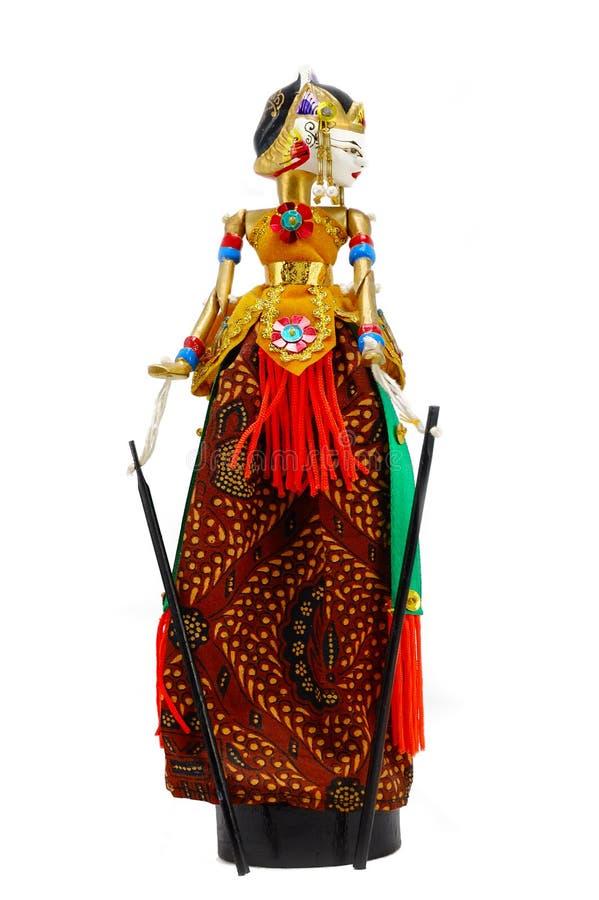 La poupée de marionnette-affichent photographie stock