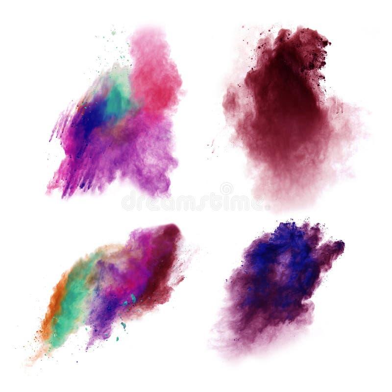 La poussière colorée photos stock