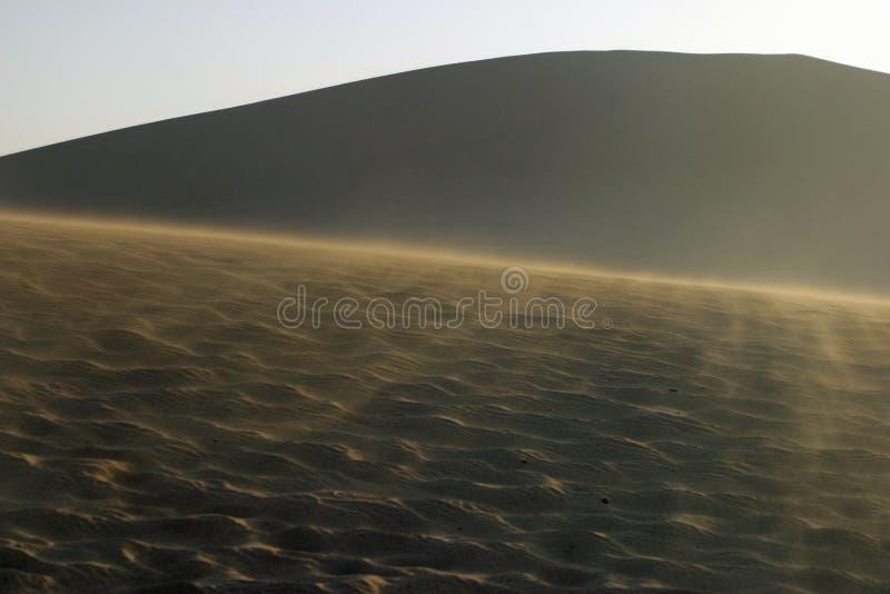 La poussière de sable dans Mingsha Shan, Dunhuang images libres de droits