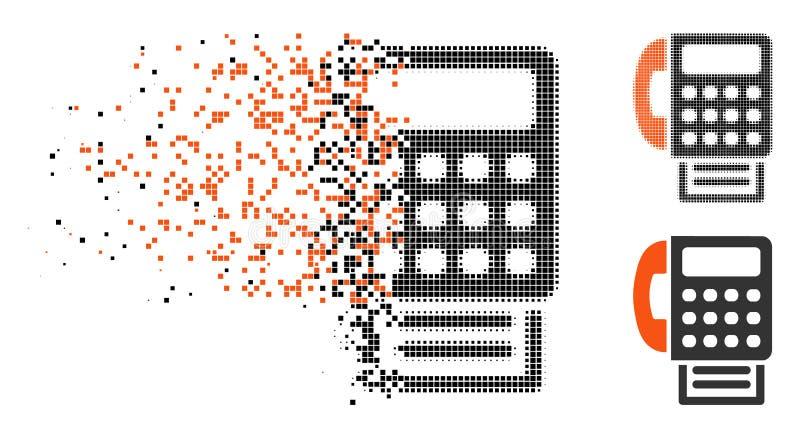La poussière Dot Halftone Fax Icon illustration libre de droits