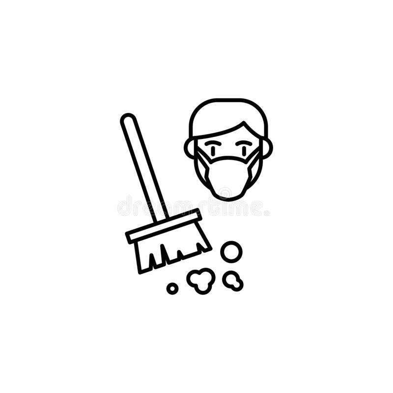 La poussière, icône allergique Élément des problèmes avec l'icône d'allergies Ligne mince icône pour la conception de site Web et illustration libre de droits