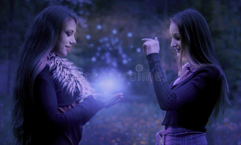La poussière magique photos stock
