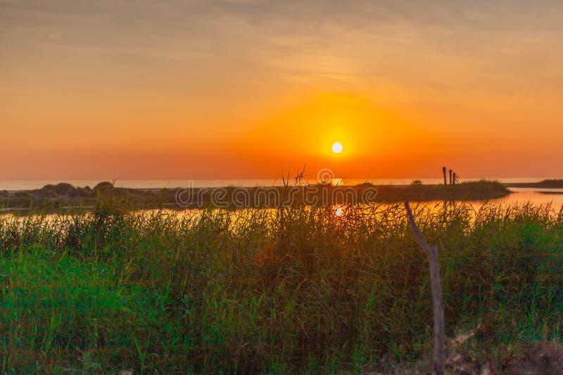 La Poza Todos Santos di tramonto fotografia stock libera da diritti