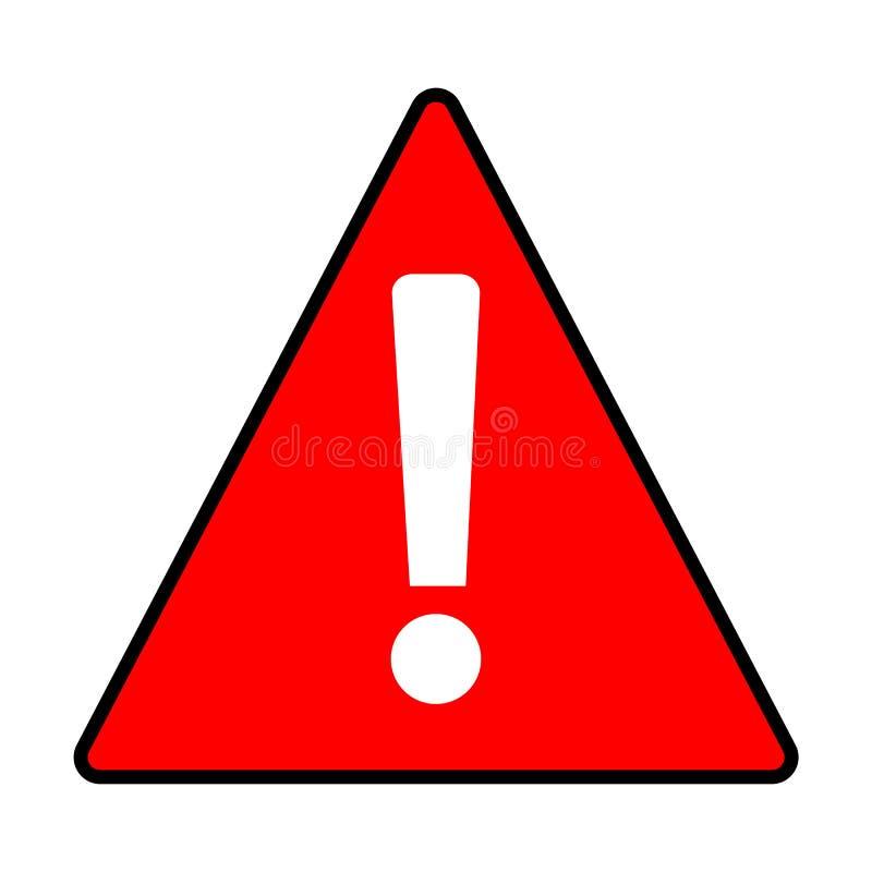 La précaution d'avertissement rouge d'une attention se connectent le fond blanc Étable plate illustration de vecteur