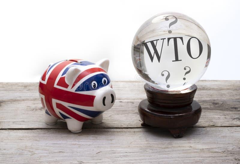 La prévision d'OMC, le R-U aura l'OMC aucune affaire de brexit d'affaire photographie stock libre de droits