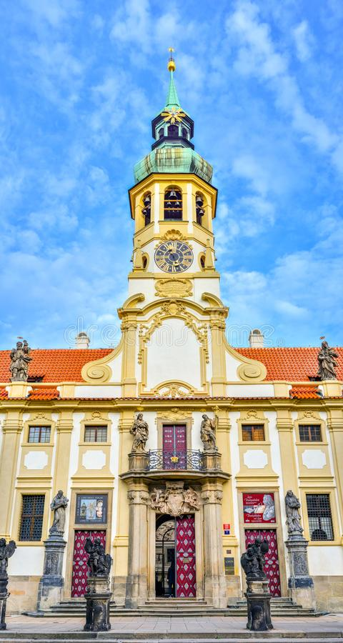 La Praga Loreto es un monumento histórico barroco notable, un lugar del peregrinaje con historia de fascinación imagen de archivo libre de regalías