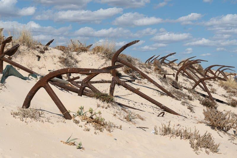 La Praia fa Barril che è un'area storica con i dozzine immagini stock