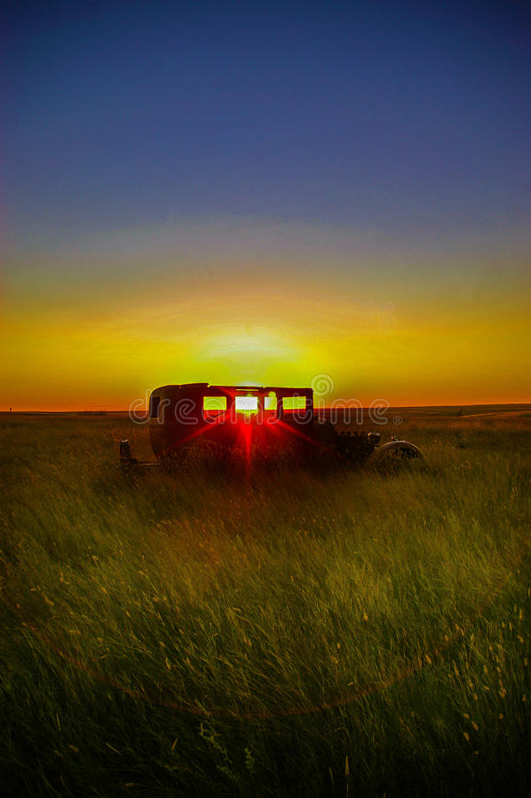 La prairie Sun d'arrangement image libre de droits
