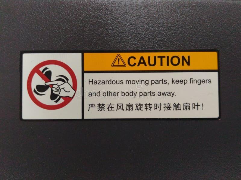 La precaución mantiene los fingeres symble fotos de archivo