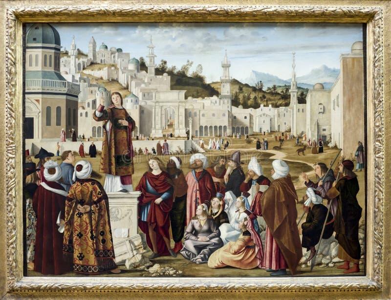 La predicción del St Stephen en Jerusalén imágenes de archivo libres de regalías