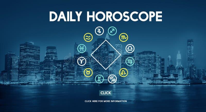 La predicción futura del calendario astral del horóscopo firma concepto libre illustration