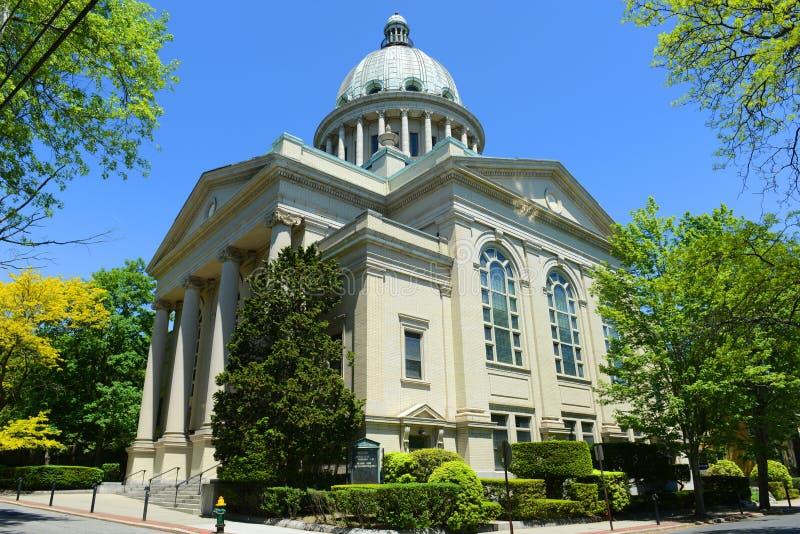 La première église du scientifique de Christ, Providence, RI, Etats-Unis photographie stock libre de droits
