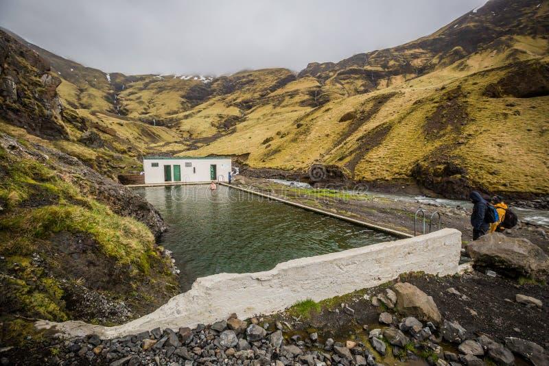 La première piscine de l'Islande photographie stock libre de droits