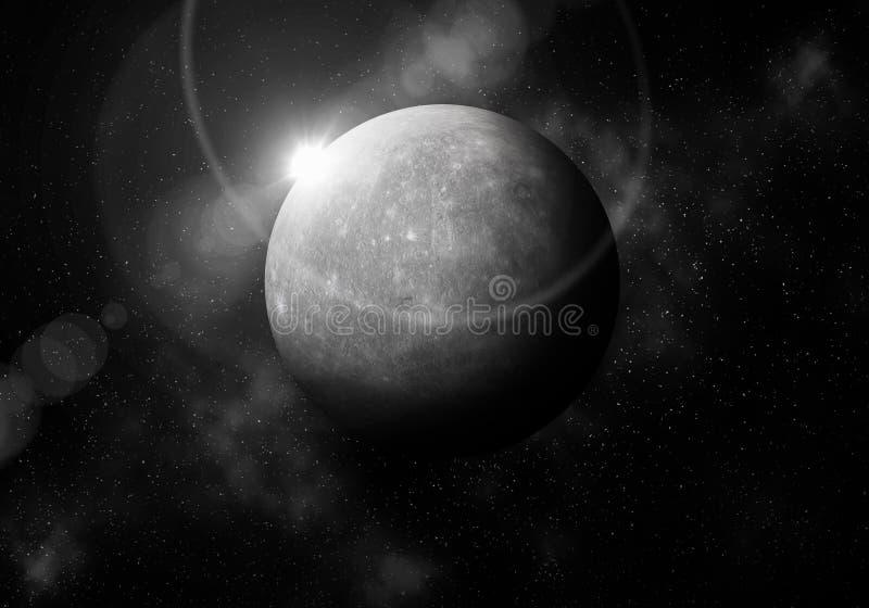 La première planète du Sun est Mercury, planétarium de système solaire illustration de vecteur