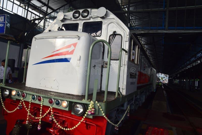 La premier del viaje de tren expreso de Ambarawa imagen de archivo