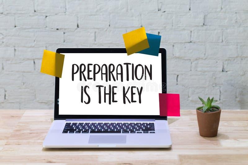 LA PREPARAZIONE È il piano CHIAVE È concetto PRONTO appena prepara a illustrazione vettoriale