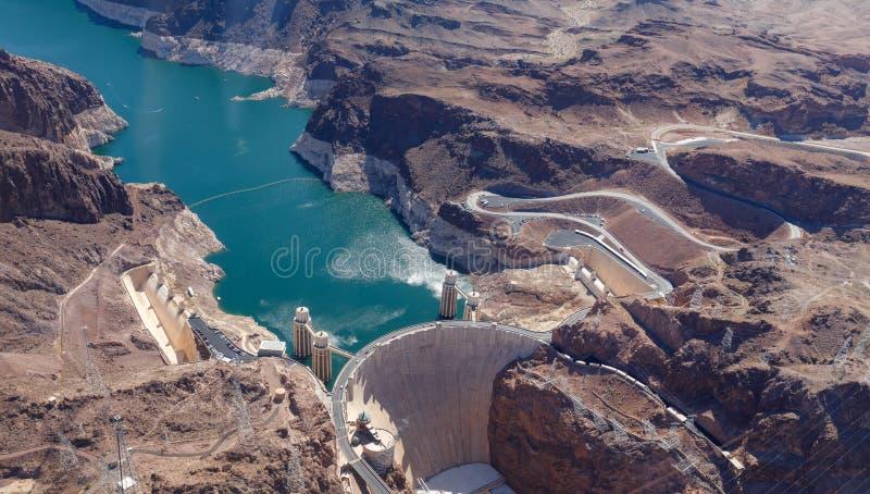 La Presa Hoover, entre Nevada y Arizona, los E.E.U.U. fotos de archivo libres de regalías