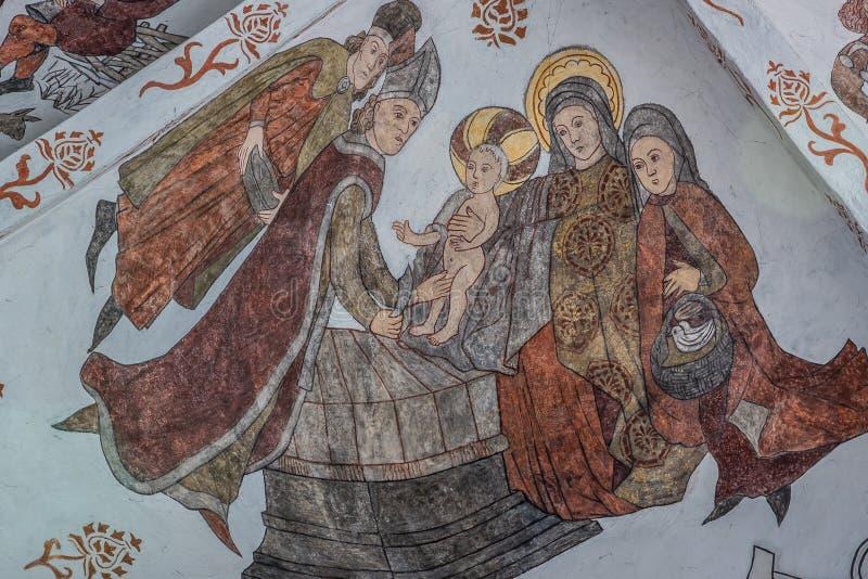 La presentación de Jesús en el templo, un viejo pared-jadeo de la circuncisión de Jesús imagen de archivo